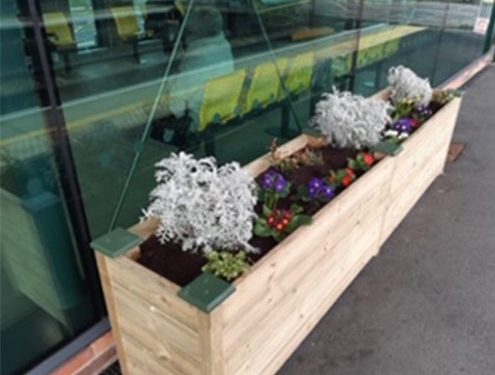 New Flower Troughs On The Platforms Of Ainsdale Railway Station